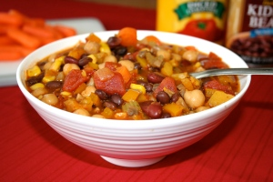 Voila! You have a delicious vegetarian chili that is good for you!
