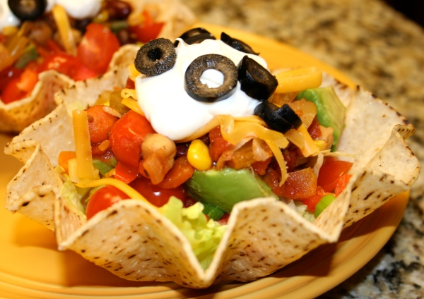Taco Salad in a Taco Bowl
