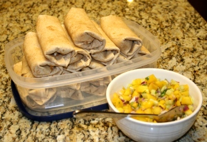 I like to package my extra burritos and put them in the freezer to thaw and bake later.