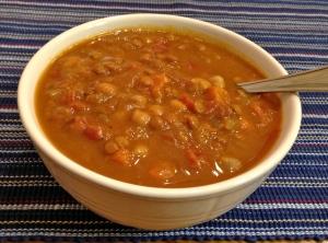 Curry-Pumpkin Lentils & Chickpeas