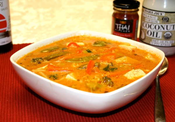 Thai Curry-Vegetable-Tofu Noodle Soup