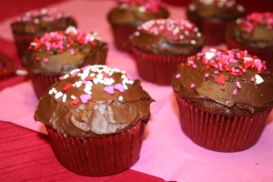Ice with chocolate icing and top with sprinkles!