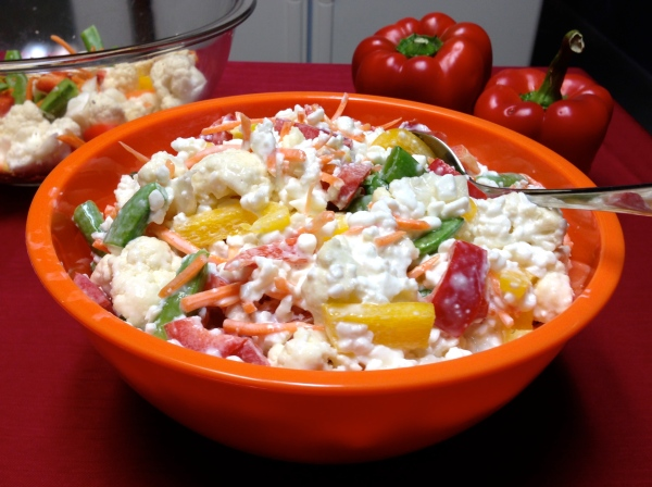 Cauliflower-Cottage Cheese Salad
